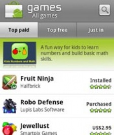Halfbrick's Fruit Ninja cuts up Android Market, #1 within 24 hours