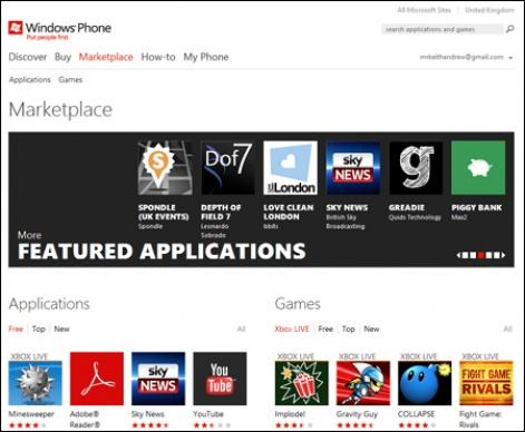 Microsoft rolls out web-based Windows Phone Marketplace