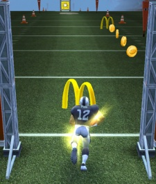 McDonald's fires up Pocket Gems' NFL Runner with power-up codes