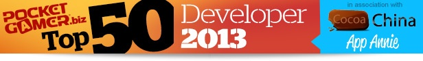 Top 50 Mobile Game Developers of 2013
