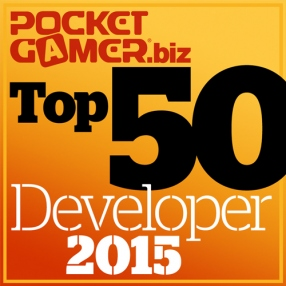 Top 50 Mobile Game Developers of 2015