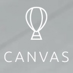 Canvas ads for mobile logo