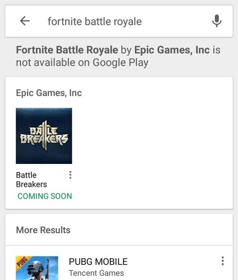 fortnite battle royale android play store