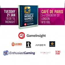 A special thank you to the sponsors for the 2020 Mobile Games Awards